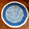 Rag rug Horgolt szőnyeg rongyszőnyeg, Otthon, lakberendezés, Lakástextil, Szőnyeg,  Vidám könnyen kezelhető, egyedi szőnyeg!  Pólófonalból és színes,pamut  szabászati maradékból készü..., Meska