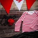 party dekor rose, Baba-mama-gyerek, Dekoráció, Gyerekszoba, Ünnepi dekoráció, Varrás, Csomózás, szett tartalma:  -party zászló 10 lapos (igény szerint növelhető)  Zászlófüzér mérete:  háromszögek..., Meska