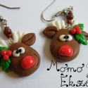 Rénszarvas fejecskék karácsonyra, Kedves, mosolygós szarvas arcocskák, agancsukon ...