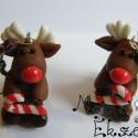 Rudolf szarvas cukorkával, mérete: 2cm+1,5cm alkatrész Aranyos kis szarvas ...