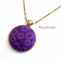 KIFUTÓ TERMÉK! Purple Bubbles - Lila buborékok antik bronz nyaklánc, Kifutó termékeim most utoljára kaphatók a Mesk...