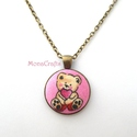 KIFUTÓ TERMÉK! Szerelmes Mackó - antik bronz macis nyaklánc, Kifutó termékeim most utoljára kaphatók a Mesk...