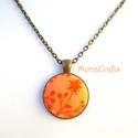 KIFUTÓ TERMÉK! Narancsliget - virágmintás antik bronz nyaklánc, Kifutó termékeim most utoljára kaphatók a Mesk...