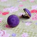 KIFUTÓ TERMÉK! Purple Bubbles - Lila buborékok antik bronz fülbevaló, Kifutó termékeim most utoljára kaphatók a Mesk...
