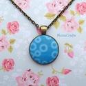 KIFUTÓ TERMÉK! Blue Bubbles - Kék buborékok antik bronz nyaklánc, Kifutó termékeim most utoljára kaphatók a Mesk...