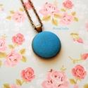 KIFUTÓ TERMÉK! Liza - kézzel festett textilgomb nyaklánc, Kifutó termékeim most utoljára kaphatók a Mesk...