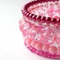 KIFUTÓ TERMÉK! Cintia - rózsaszín karkötő válogatott gyöngyökből, Kifutó termékeim most utoljára kaphatók a Mesk...