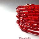 KIFUTÓ TERMÉK! Mimi - piros tízsoros memória karkötő, Kifutó termékeim most utoljára kaphatók a Mesk...