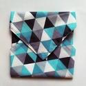 Újraszalvéta, szendvics csomagoló, kék háromszögek, Ez az újraszalvéta avagy szendvics csomagolás s...