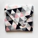 Újraszalvéta, szendvics csomagoló, rózsaszín háromszögek, Ez az újraszalvéta avagy szendvics csomagolás s...