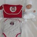 """Pelenkázó táska és hordozó, Játék, """"kovacszsuzsanna"""" kérésére 46-47 babához  Pelenkázó táska - piros, bagoly díszítéssel. Ste..., Meska"""