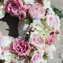 Hatalmas selyemvirág koszorú, Dekoráció, Esküvő, Ünnepi dekoráció, Esküvői dekoráció, Hungarocell koszorú alapra készítettem el ezt a varázslatosan szép esküvői autódíszül szol..., Meska