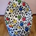 Babzsák fotel, Bútor, Babzsák, Focis, kagyló alakú gyerek babzsák fotel!!  Magasság:60cm Szélesség:50cm Ülőmagasság:30cm S..., Meska