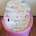 Süppedős babzsák fotel, Bútor, Babzsák, Varrás, Nagyon kényelmes,süppedős kagyló babazsákfotel lányoknak!  Magasság:60cm Szélesség:55cm ülőmagasság..., Meska
