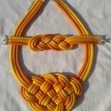 Narancs, sárga zsinór nyaklánc és szett, Ékszer, Ruha, divat, cipő, Ékszerszett, Nyaklánc, Színes  zsinórokból készítettem ezt a szép, ragyogó, vidám darabot! Könnyű, divatos, szín..., Meska