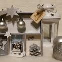 Karácsonyi ezüst dobozka, Dekoráció, Karácsonyi, adventi apróságok, Ünnepi dekoráció, Mindenmás, Egy 14* 13 cm-es kis ünnepi dekoráció keresi gazdáját :) , Meska