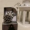 Ezüst Karácsony ezüst kis dobozban, Dekoráció, Ünnepi dekoráció, Karácsonyi, adventi apróságok, Mindenmás, 4,5 *9,5 cm papír alapú doboz Karácsonyi hangulatba öltöztetve., Meska