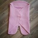 Bebynomad takaró rózsaszín, , Baba-mama-gyerek, Varrás, BABYNOMADE Darázsszovetből  babatakaró 0-6hónapos korig. Mind a külső és belső anyag 100%pamut,apró..., Meska