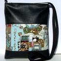 City Bag Midi: Cicák :), Táska, Baba-mama-gyerek, Varrás, Közkívánatra mostantól lesznek közepes méretű táskák is ebből a típusból :)  Ez a táska fekete szín..., Meska