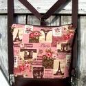CITY BAG HÁTIZSÁK/OLDALTÁSKA : Paris mon Amour, Táska, Mindenmás, Hátizsák, Válltáska, oldaltáska, Sokak kérésére mostantól végre készülnek olyan táskák is, amik oldaltáskák és hátizsák..., Meska