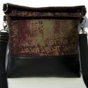 City Bag Midi Foldover : Vintage, Táska, Ruha, divat, cipő, Varrás, KÉSZLETEN! :)  Midi fazonú táskából is készült lehajtós fazon. A karabineres pántot a felső vagy al..., Meska
