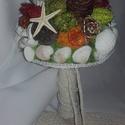 Tengerparti esküvői csokor, Otthon & lakás, Esküvő, Dekoráció, Csokor, Esküvői csokor, Mindenmás, Virágkötés, Hazai esküvő tengerparti hangulatban  Nálunk elég ritka, de ha van valaki, aki olyan szerencsés, ho..., Meska