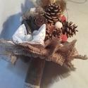 Téli csokor tobozból, Esküvő, Esküvői csokor, Virágkötés, Mindenmás, Legyél egyedi a csokrod által.  Sokszor megkérdezem magamtól, hogy miért van az, hogy csak rózsában..., Meska