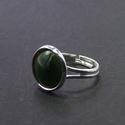 Zöld tűzzománc gyűrű, Ékszer, Ékszerszett, Gyűrű, Tűzzománc gyűrű, mely a zöld színében pompázik.  Az ezüst színű foglalat nikkelmentes, antiallergén ..., Meska