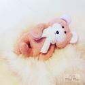 Baby Maci , Játék & Gyerek, Plüssállat & Játékfigura, Maci, Varrás, Baba-és bábkészítés,  Baby Maci a legkisebbeknek készült. Puha púder rózsaszín wellsoft anyagból készül biztonsági szeme..., Meska