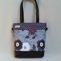 Young-bag YB20, Táska, Válltáska, oldaltáska, Laptoptáska, Szatyor, Varrás, Saját tervezésű gyöngyvászonra nyomott mintával készült ez a táska. Nagyon dekoratív darab. Ez az a..., Meska