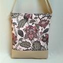 Cross-Bag 42 női táska, Táska, Válltáska, oldaltáska, Varrás, A lombzöld az idei év színe. A Monimi táskákon a lombok között romantikus, festményszerű virágok is..., Meska