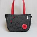 City-bag 42 női táska kézi nemez dísszel