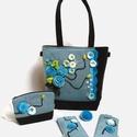 Lara Ferrano Exclusive női táska szett nemezdíszítéssel, 5 darabos (táska, neszesszer, mobiltok, szemüvegtok, bross), Táska, Válltáska, oldaltáska, Az Exclusive táskákból csak egyetlen darab készül. Teljesen egyedi és ezáltal te is az lehetsz! Amik..., Meska