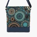Lovely-bag 03 női kék mandalás táska, Táska, Válltáska, oldaltáska, Gyönyörű színekben pompázik ez a táska! A kék egyre népszerűbb, mert nagyon harmonikus, sokféle ruhá..., Meska
