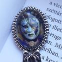 Venezia üveglapos könyvjelző, Ékszer, óra, Mindenmás, Egy gyönyörű velencei karneváli maszk lapul a könyvjelző üveglapja (18×25 mm)  alatt. Szép, elegáns ..., Meska