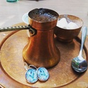 Bascarsija üveglapos fülbevaló, Ékszer, óra, Fülbevaló, A fülbevaló 18 mm-es üveglappal készült és a szarajevói bazár ihlette, onnan a név is. Színes, tüzes..., Meska