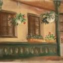 Magyar ház 41x32 cm, Művészet, Grafika & Illusztráció, Fotó, grafika, rajz, illusztráció, Egy gyöngyöspatai magyar népi jellegű házról készült kép. Gyöngyöspatán áll egy szép népiesen beren..., Meska