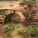 Gyöngyöspatai híd. kis alagút 41x32 cm, Művészet, Grafika & Illusztráció, Fotó, grafika, rajz, illusztráció, Ez kép Gyöngyöspatán a Nepomuki Szent János hídról készült. Kint ültem a nagy melegben a parton és ..., Meska