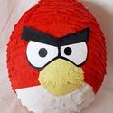 PINATA Angry birds pinata, Dekoráció, Játék, Papírművészet, Újrahasznosított alapanyagból készült termékek, Piros angry birds pinata akár tematikus szülinapi bulihoz kiváló játék lesz :)  Mérete: Enyhén ovál..., Meska
