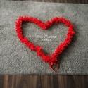 Piros füzér/girland, Otthon, lakberendezés, Dekoráció, Dísz, Lakástextil, Pamutvászon anyagból készítettem egy 3,4m hosszú piros színű füzért, melyet többféleképpen  fel tuds..., Meska