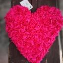 Pink szív dekoráció, Baba-mama-gyerek, Dekoráció, Gyerekszoba, Baba falikép, Szív alapra készítettem egy kellemes hangulatot árasztó dekorációt, mely tökéletesen mutat  gyereksz..., Meska