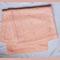 Könnyű kötött nagyobb baba takaró 100% pamut, Baba-mama-gyerek, Gyerekszoba, Falvédő, takaró, Kötés, Hatalmas baba takaró igazi pasztell baba-rózsaszínben. 100% puha pamutból kötöttem finom mintával. ..., Meska