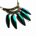 Páncél - nyakék irizáló zöld színben, Igazi különlegesség, gyönyörű, aranyosan - k...