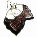 Taj Mahal fülbevaló,  mehndi - henna süthető gyurma ékszer, Indiai-arab formájú, henna - mehndi motívummal ...