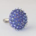 Minden napra egy gyűrű ! - lila szivárvány buborékos, Ékszer, Gyűrű, Ha szeretnél minden nap a hangulatodhoz és a ruhatárodhoz illő gyűrűben tündökölni, akkor ezt a term..., Meska