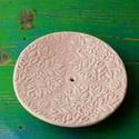 Floral kerámia szappantartó rózsaszín, Dekoráció, Szépségápolás, Fürdőszobai kellék, Közel két éve tartó szerelem a kerámia tárgyak készítése. Ezen a polcon szeretném eladásra kínálni p..., Meska