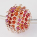 Rainbow drops- egyedi üveggyöngy sodronyon, A lánc lámpagyöngyét áttetsző Moretti üvegr...