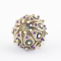 Organic amulett-egyedi lámpagyöngy medál, Ékszer, Medál, Az amulett kollekció egyik legújabb darabját látjátok. Picike üvegbe rejtett erő, energia, vidámság,..., Meska