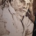 Pirográf kép, Képzőművészet, Festészet, Famegmunkálás, Pirográf technikával készült (tűzfestett) alkotás ELADÓ!!! 40×60cm., Meska
