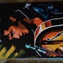 Egyedi Festmény, Képzőművészet, Festmény, Akril, Egyedi festmény, Elvis. 42×30cm. , Meska
